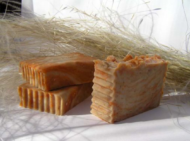 Homemade rustic style soap