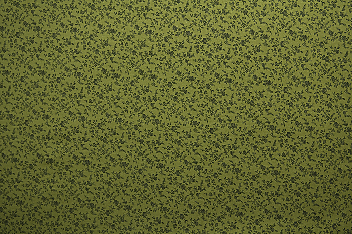 Dark-green floral fabric print