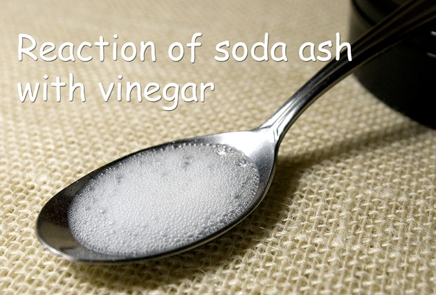 Vinegar and soda ash reaction