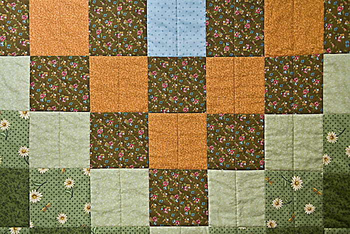 Partially stitched quilt