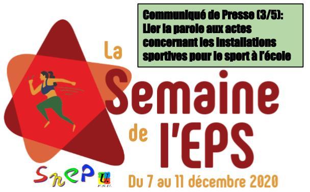 CP SNEP-FSU Guadeloupe (3/5) : <br>Une semaine de l'EPS pour lier la parole aux actes concernant les installations sportives pour le sport à l'école