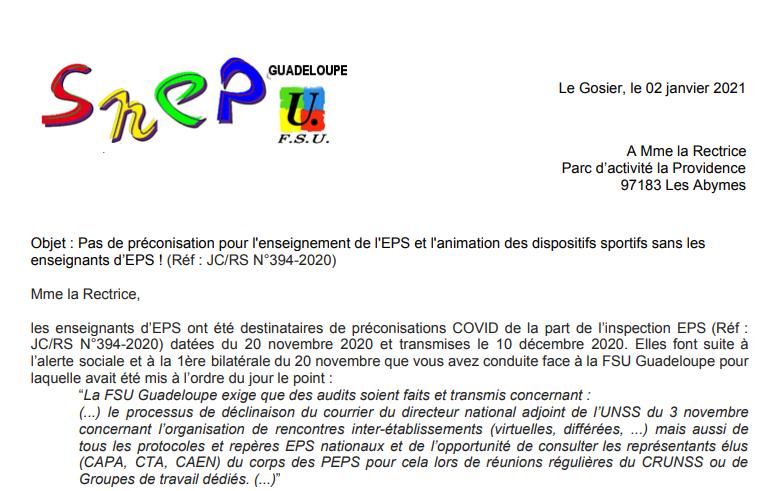 Pas de préconisation pour l'enseignement de l'EPS et l'animation des dispositifs sportifs sans les enseignants d'EPS !