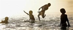 L'enseignement de la natation en lagon