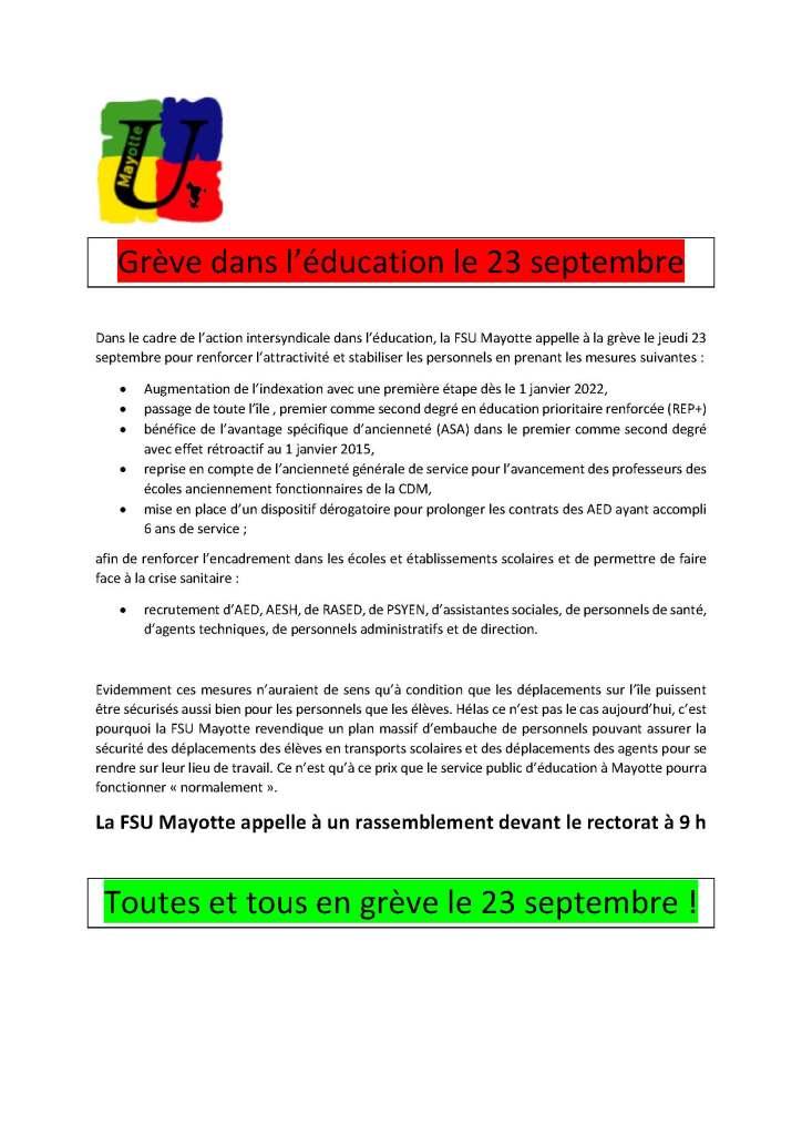 Communique-FSU-greve-23-09