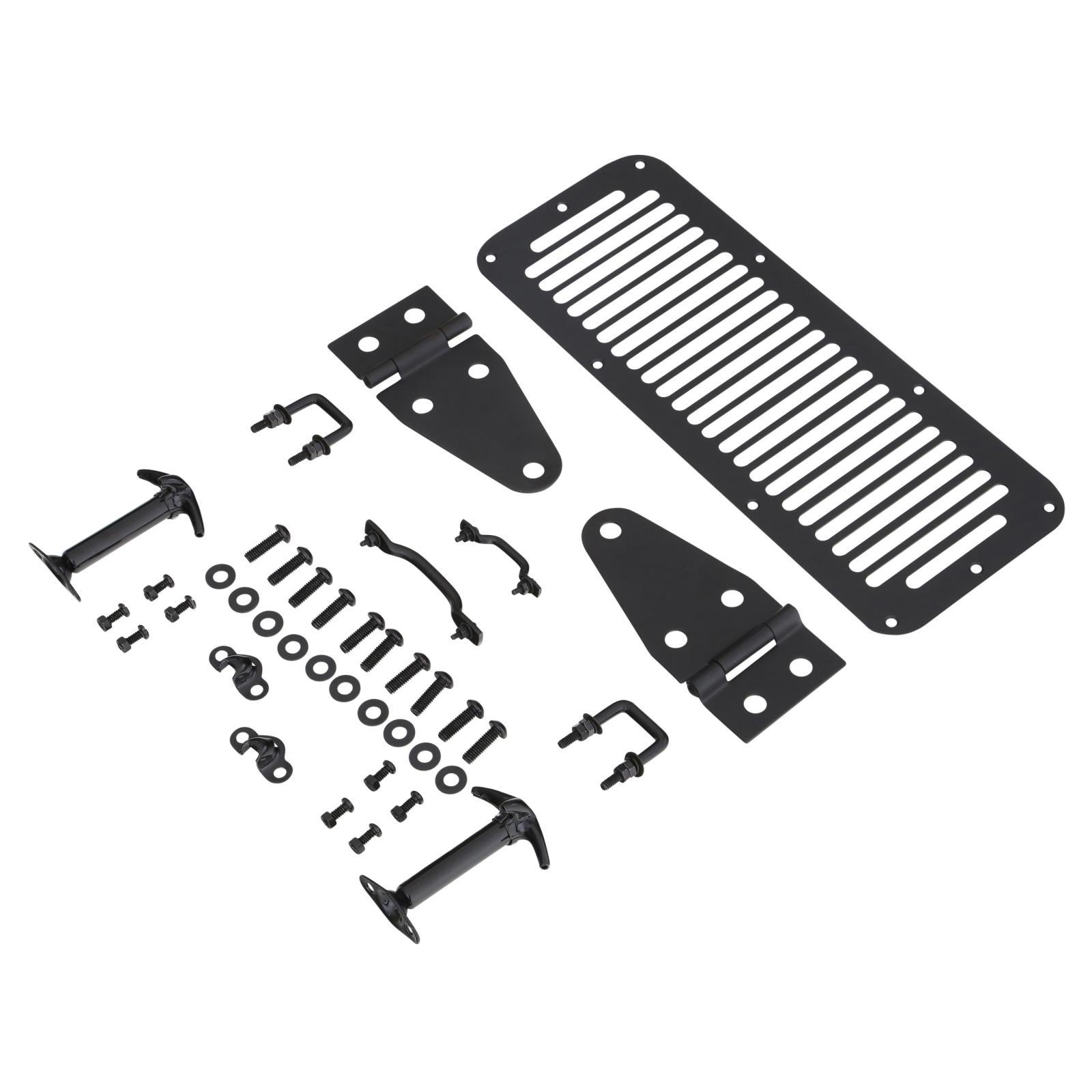 Complete Hood Kit 76 95 Wrangler Tj Cj Black Smittybilt