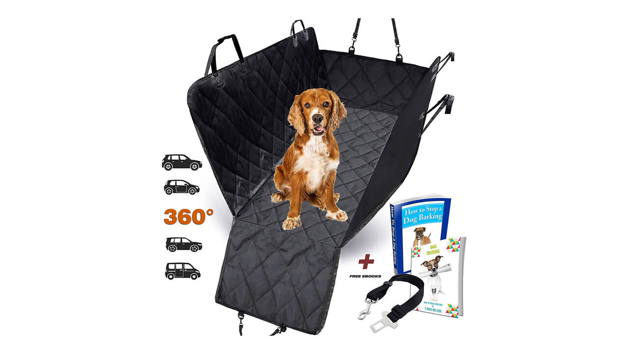 Made of Durable Sweat... Hiveseen Universal Waterproof Car Front Seat Cover