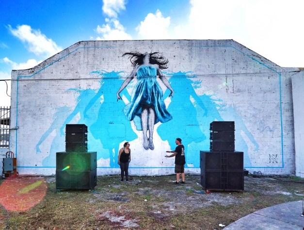 Fix The Sky - 8 layer, 7m stencil - Wynwood, Miami