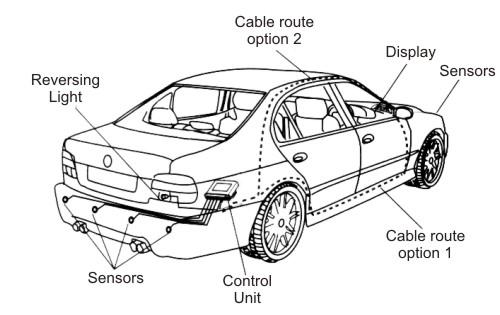 Sniper Front & Rear Parking Sensors Kit 8 Sensors with