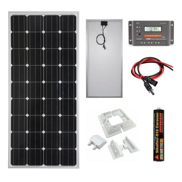 100w 12v Mono-crystalline Solar Panel Charging Kit - Sniper Automotive