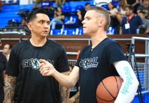 "Small in size but big in heart and skills: Alab Pilipinas head coach Jimmy Alapag and Grayson ""The Professor"" Boucer"