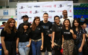 The Professor and Stephon Marbury with the SnippetMEdia team