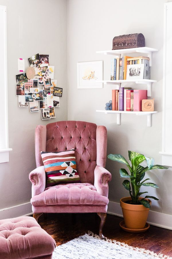 Coolest-Pink-Tufted-Accent-Chair-F54X-In-Rustic-Interior-Design-Ideas-For-Home-Design-with-Pink-Tufted-Accent-Chair
