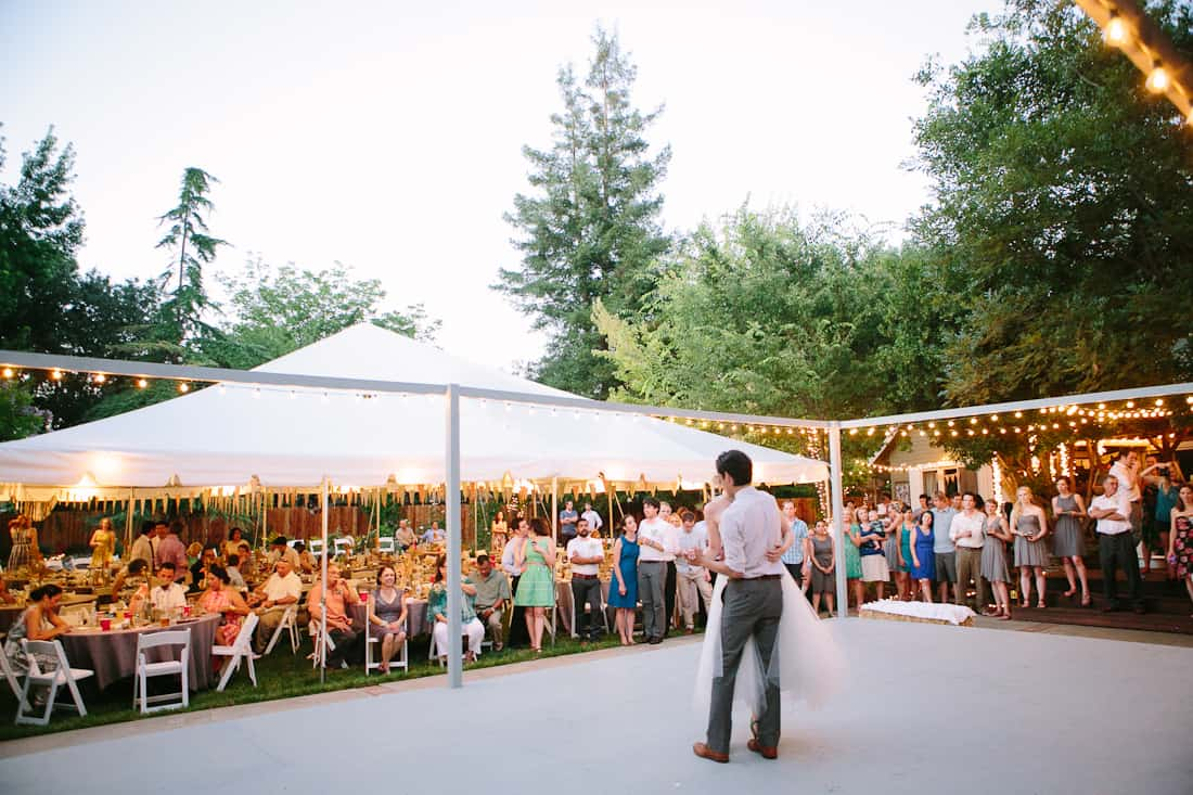 DIY Backyard BBQ Wedding Reception