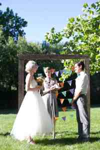 DIY Backyard BBQ Wedding Ceremony - Snixy Kitchen