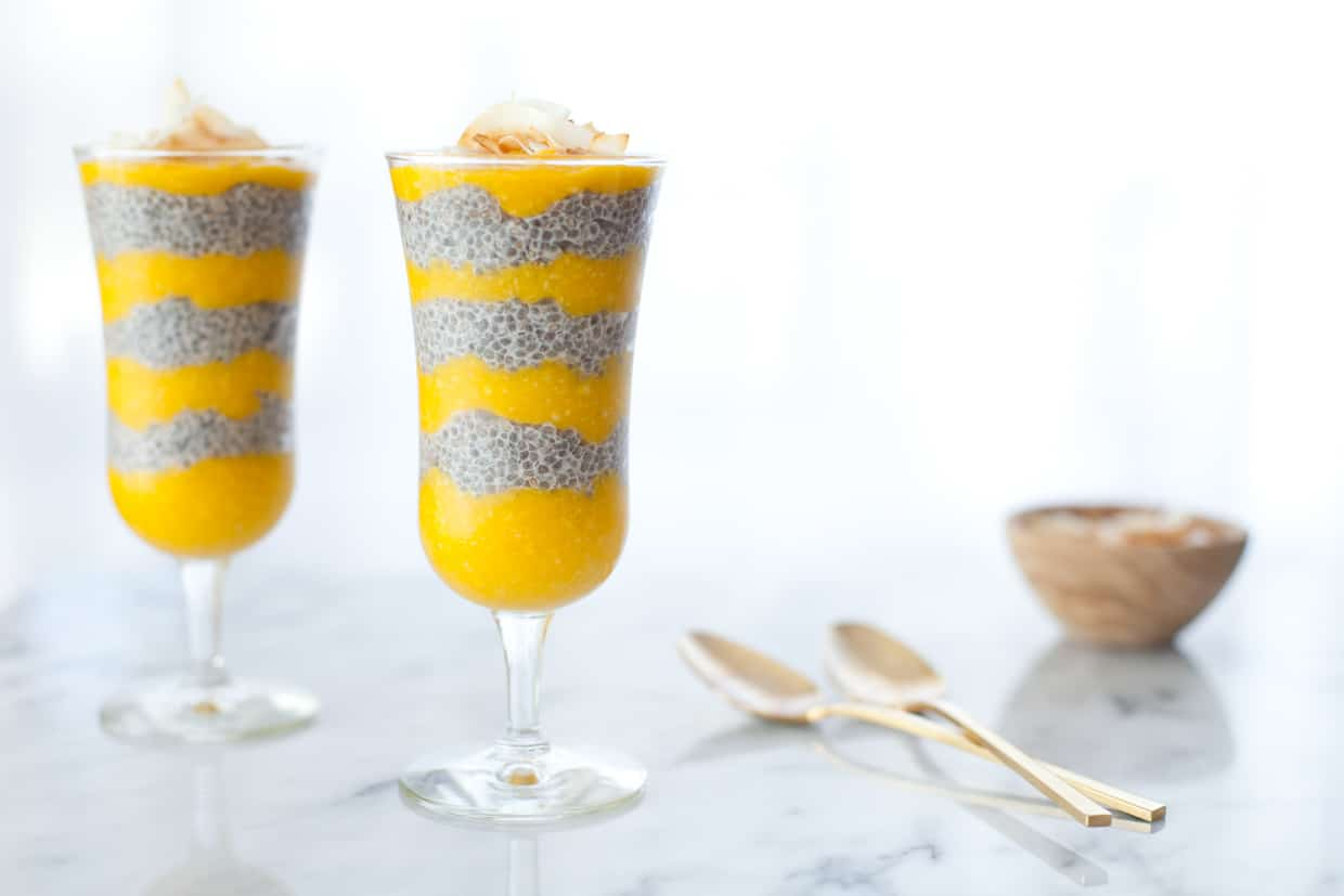 The Greenwich Mummy | Coconut and Mango Chia Seed Pudding