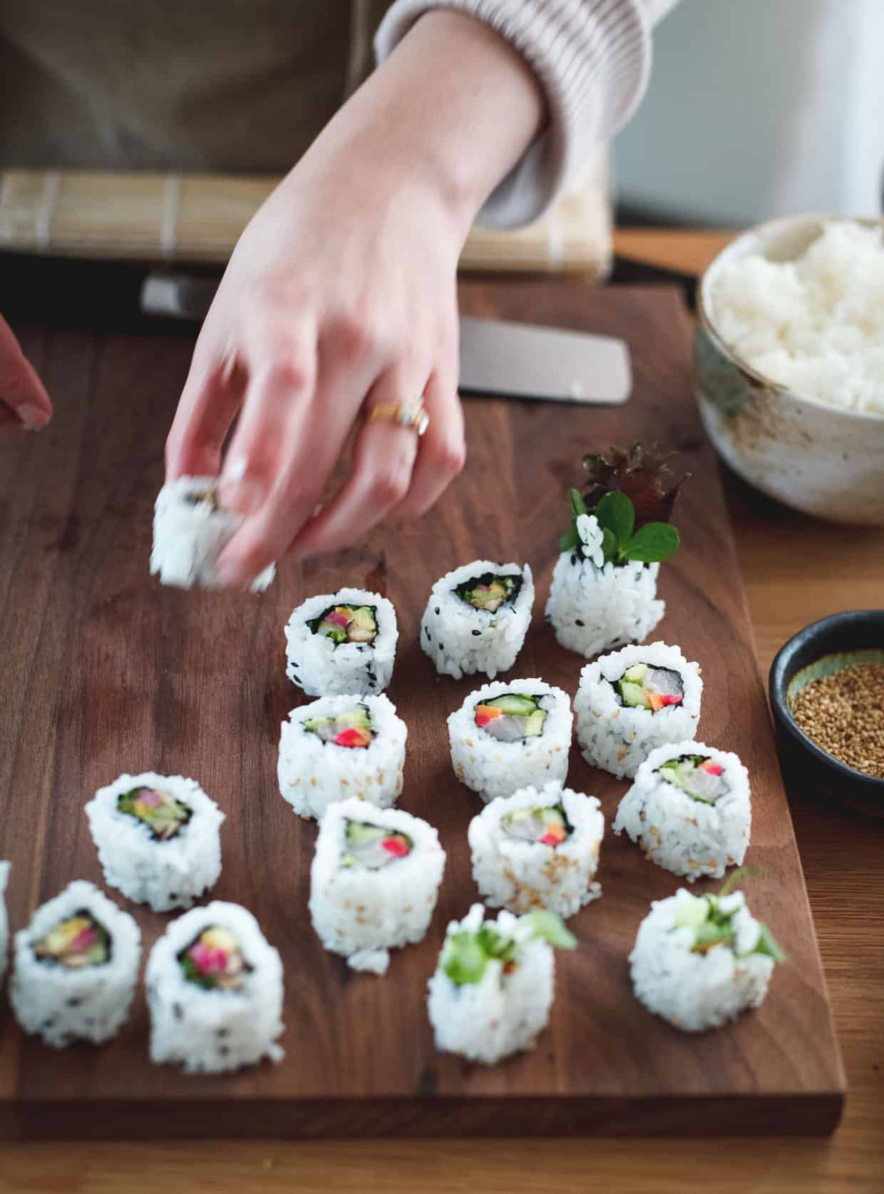 DIY Sushi at Home with a Howto Video  Snixy Kitchen