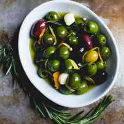 Kitchen Aide Mixer Honest Beams Warm Olives With Citrus, Rosemary, And A Splash Of Gin ...