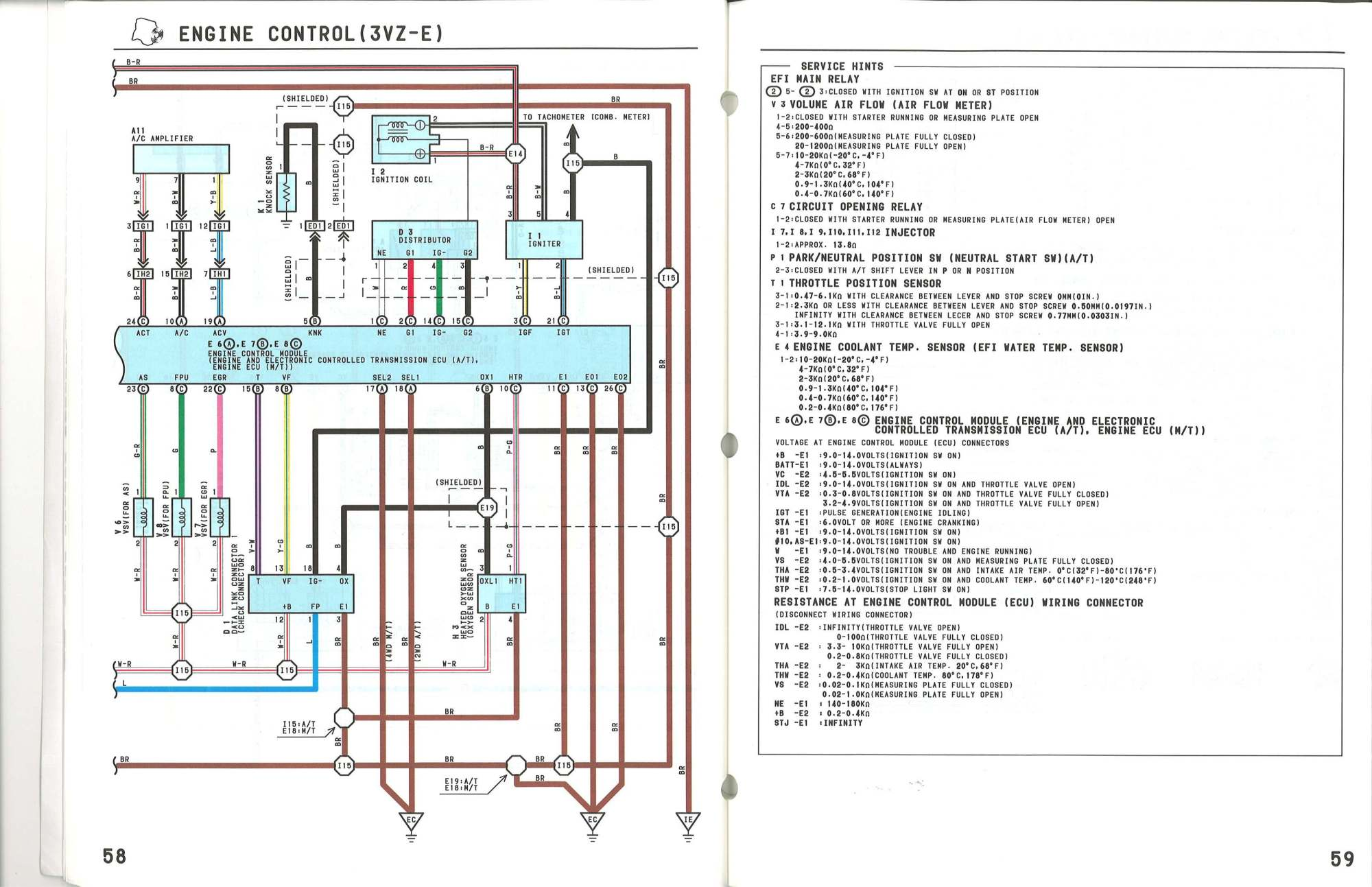 hight resolution of toyota 3vze wiring diagram wiring diagram centre 1990 toyota pickup 3vze wiring diagram