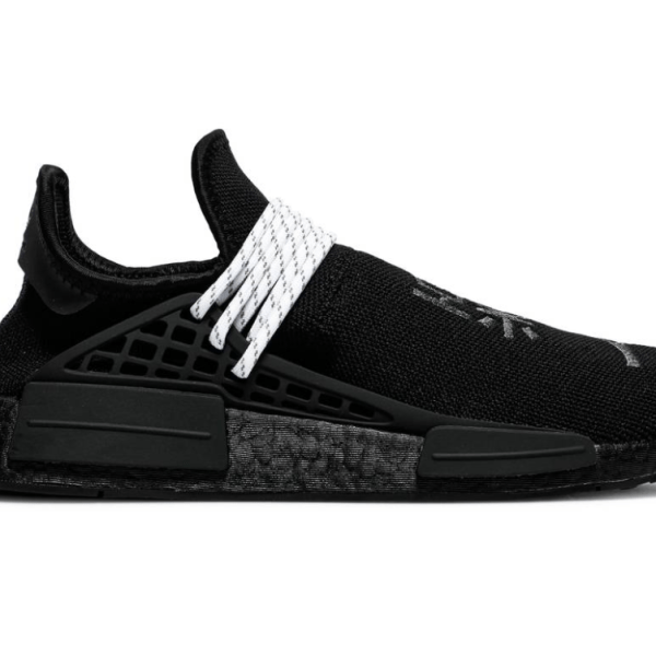 The Pharrell x NMD Human Race 'Black' with adidas Primeknit textile upper