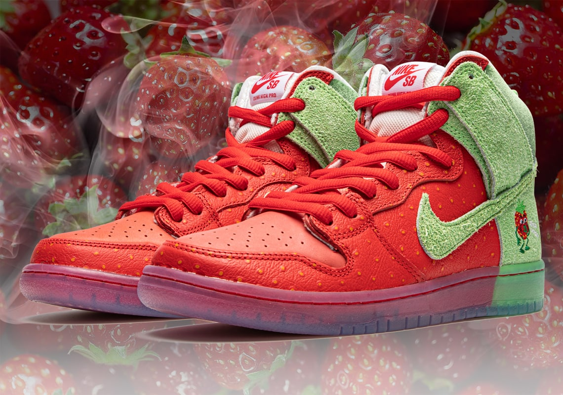 "Nike SB Dunk High Pro QS ""Strawberry Cough"""