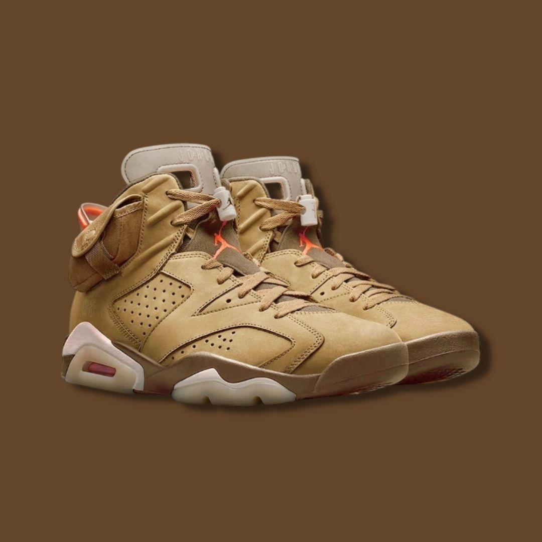 "Travis Scott x Nike Jordan 6 ""British Khaki"""