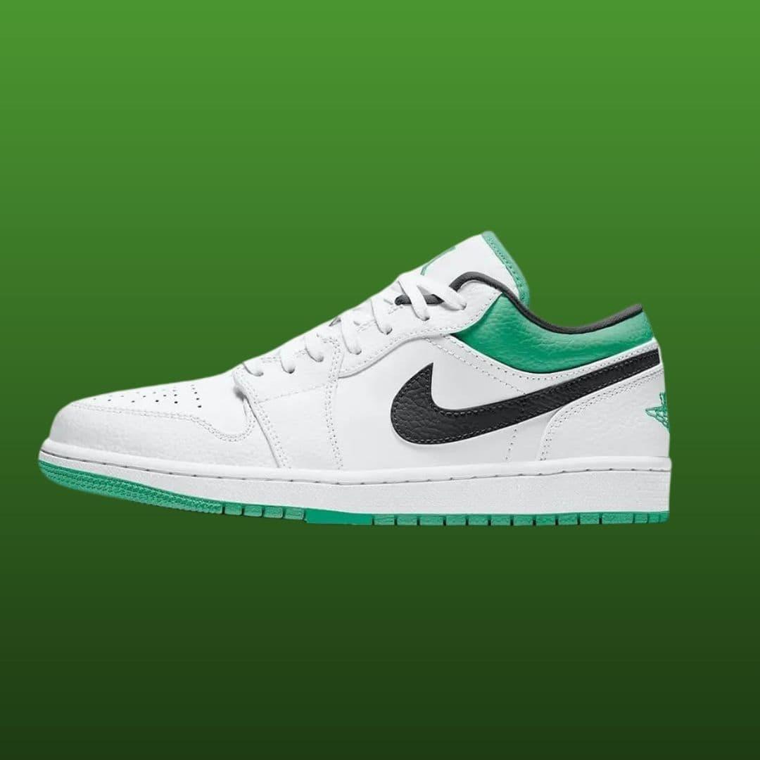 Jordan 1 Low Lucky Green White snkrempire RELEASE