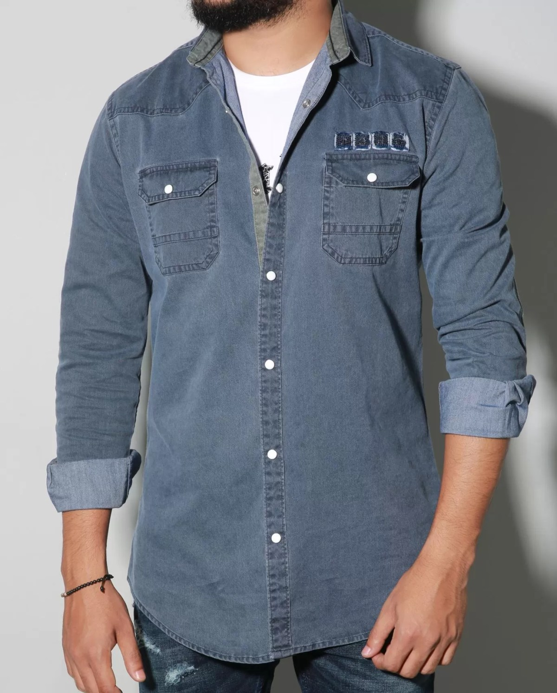 2019 Latest Design Custom Made Tailor Made Denim Shirt for Men