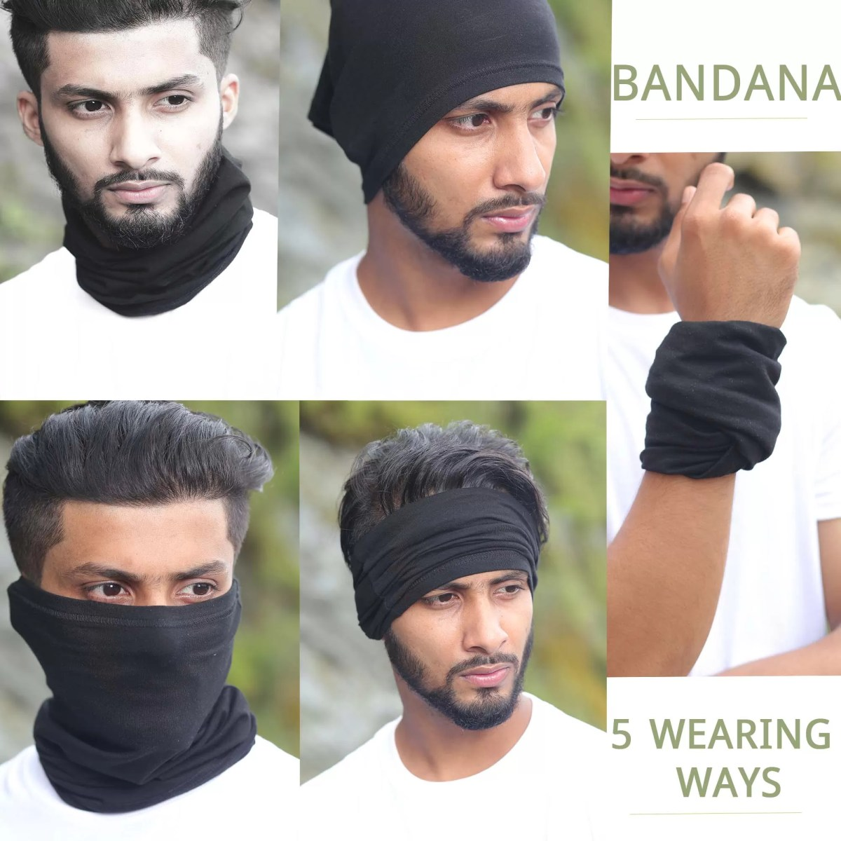Bandana 5 WEARING WAYS