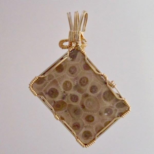Handcrafted Michigan Petoskey Stone Jewelry Gold Fill And