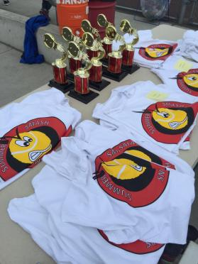 Trophies and T-shirts await the Tournament competitors
