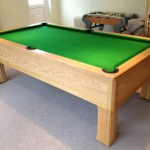 Emperor In Oak With Green Cloth Modern Bespoke English Pool Tables