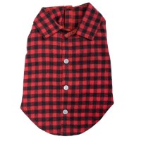 Flannel Dog Shirt | Red Buffalo Plaid