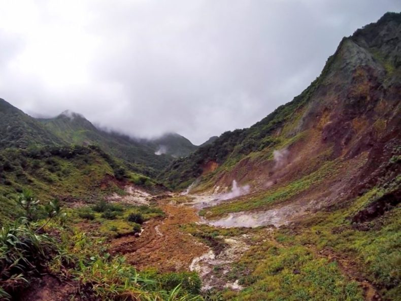 Desolation Valley on Dominica island