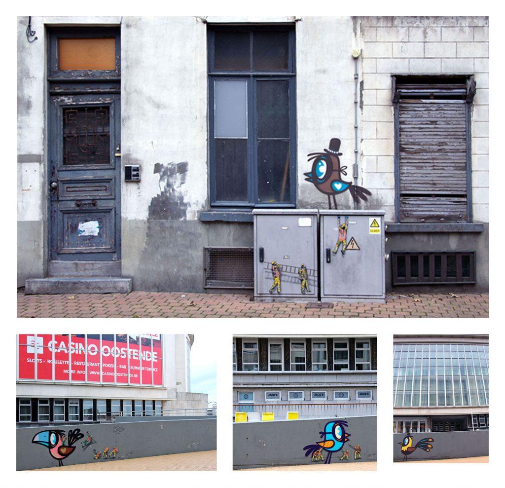 The Crystal Ship_Ostende_street art_Bué The Warrior