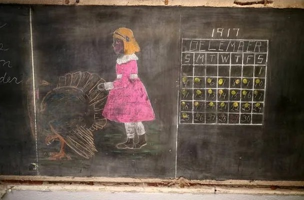 chalkboards from 1917 unearthed