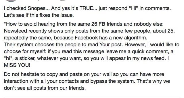 facebook 26 algorithm