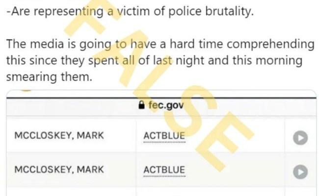 Did Mark Mccloskey Donate To Democrats