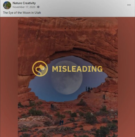 Does 'Eye of the Moon in Utah' Photo Depict a Real Phenomenon?