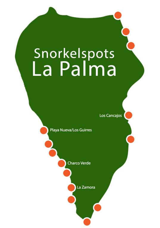 Snorkelplekken op La Palma