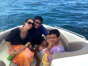 Family Snorkelling in Tobago