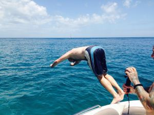 Diving in Cotton Bay, Tobago