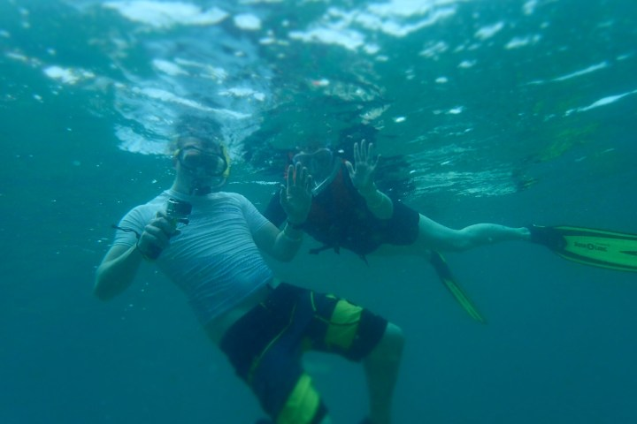 snorkelling together