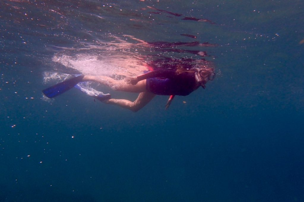 Katherine enjoying a snorkel