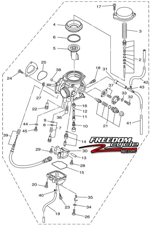 2007-2014 YAMAHA GRIZZLY 350 ATV 2X4 4X4 YFM35 CARBURETOR