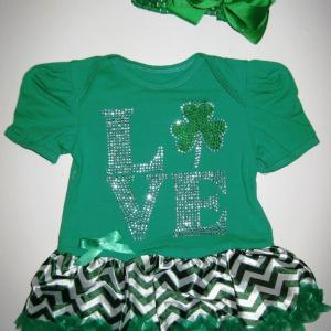 St Paddy's Day Tutu Set