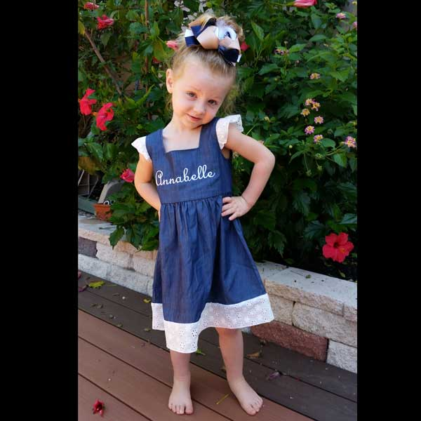 62bed8eeef Denim and Lace Dress – Snotty Tots