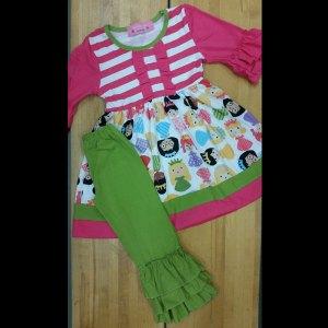 Hot Pink & Green Princess Set