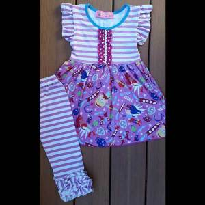 Hot Pink Super Girl Dress & Leggings Set