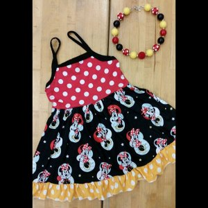 Red & Black Mouse Sundress