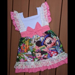 Pink & White Easter Mickey Dress